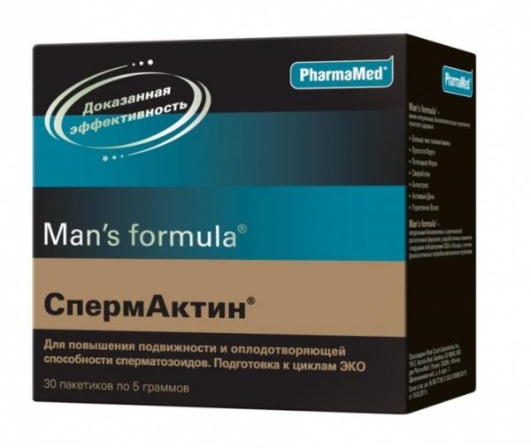 Спермактин для улучшения качества состава спермы